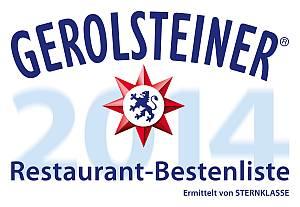 Gerolsteiner Restaurant-Bestenliste 2014